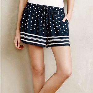 Elevenses (Anthro.) • Polka Dot Navy Shorts